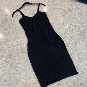 Alexander Wang Knit Bodycon V-Neck Mini Dress LBD